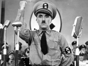 Charlie Chapin in The Great Dictator